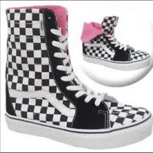 Vans Super SK8-HI Black/White Checkerboard